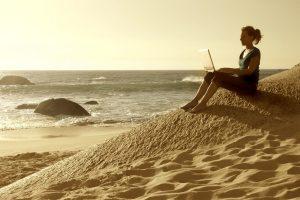 Schrijven aan zee op texel